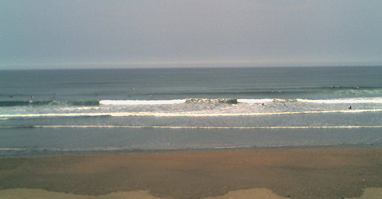 photo of the waves that greeted us at Widemouth Bay